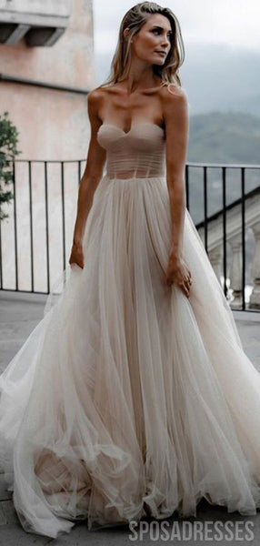 Simple Sweetheart Cheap Wedding Dresses Online, Cheap Bridal Dresses, WD656