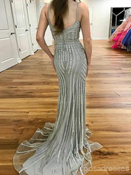 Heavily Beaded Mermaid Rhinestone Long Evening Prom Dresses, Party Custom Prom Dresses, 18638
