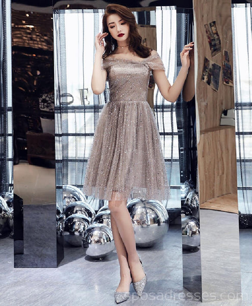 Cap Sleeves Sparkly Sequin Cheap Homecoming Dresses Online, Cheap Short Prom Dresses, CM762