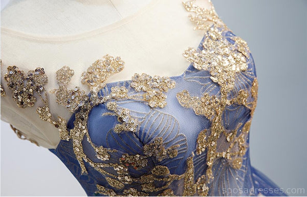Scoop Cap Sleeves Gold Sequin Cheap Homecoming Dresses Online, Cheap Short Prom Dresses, CM764