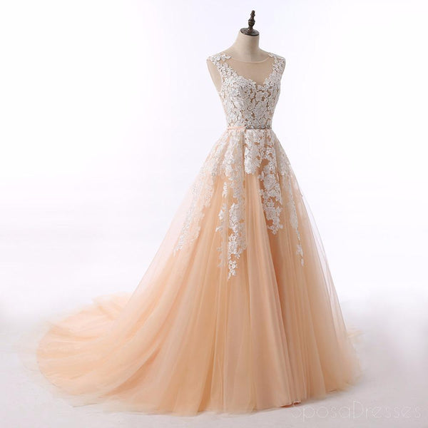 Uma Linha Lace Beaded Ball Gown Evening Prom Dresses, Popular Sweet 16 Party Prom Dresses, Custom Long Prom Dresses, Cheap Formal Prom Dresses, 170