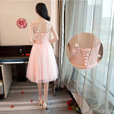 Mismatched Peach Lace Short Bridesmaid Dresses, Cheap Custom Long Bridesmaid Dresses, Affordable Bridesmaid Gowns, BD021