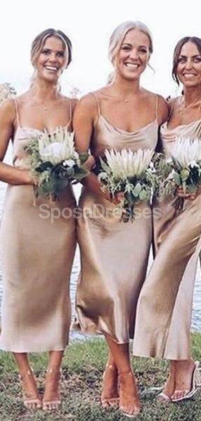 Cheap Spaghetti Straps Short Simple Bridesmaid Dresses Online,WG717