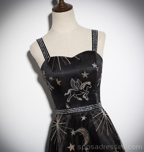 Straps Black Sequin Unique Cheap Homecoming Dresses Online, Cheap Short Prom Dresses, CM769