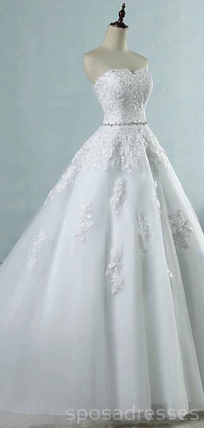 Sweetheart A-line Lace Cheap Wedding Dresses Online, Cheap Bridal Dresses, WD499