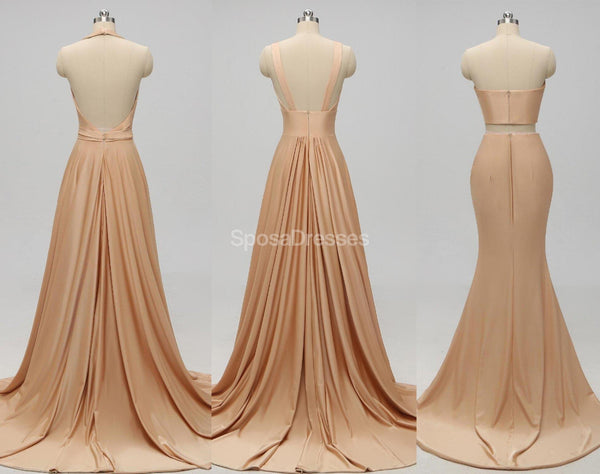 V-neck Side Slit Unique Long Cheap Bridesmaid Dresses Online, WG578