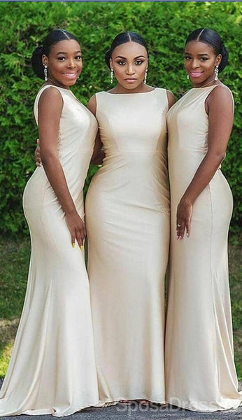 Bateau Simple Mermaid Cheap Long Cheap Bridesmaid Dresses Online, WG640
