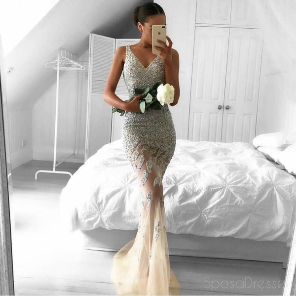 2017 Long Mermaid Evening Prom Dresses,  Lace Long Party Prom Dress, Custom Long Prom Dress, Cheap Party Prom Dress, Formal Prom Dress, 17023