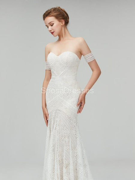 Sexy Lace Mermaid Cheap Wedding Dresses Online, Unique Bridal Dresses, WD556