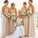 Inexpensive Chiffon One Shoulder Floor-length A Line  Bridesmaid Dresses, WG60