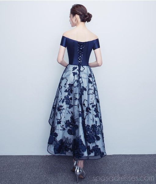 Off Shoulder Navy Lace Cheap Homecoming Dresses Online, Cheap Short Prom Dresses, CM788