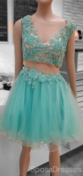 Mint Green Applique Sparkly Cheap Short Homecoming Dresses Online, Cheap Short Prom Dresses, CM833