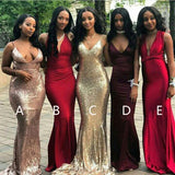 Affordable Mismatched Mermaid Long Bridesmaid Dresses, BD107