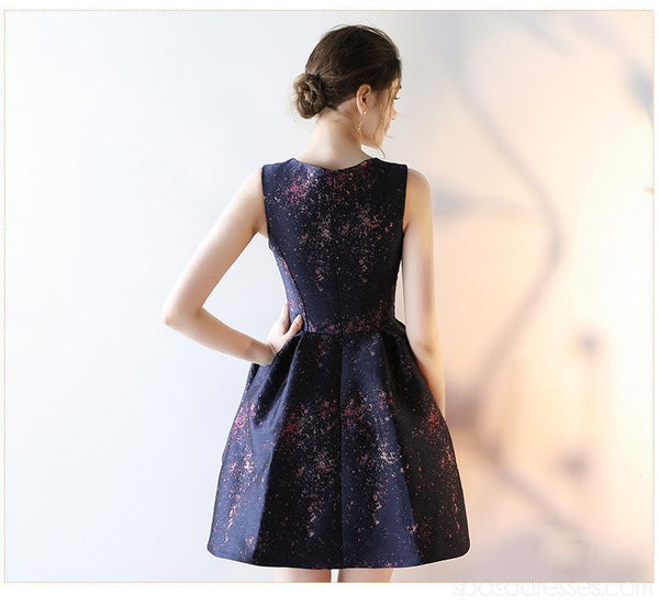 Unique Simple Navy Cheap Homecoming Dresses Online, Cheap Short Prom Dresses, CM793