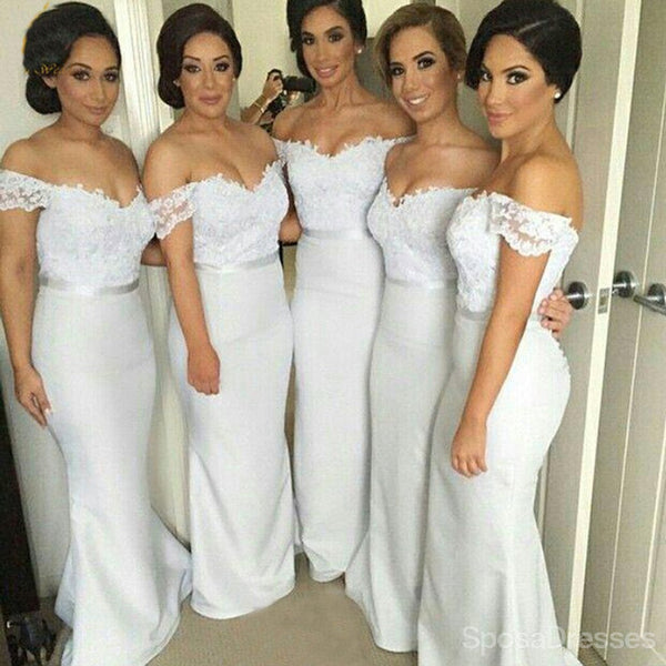 Off Shoulder Sweet Heart Sexy Mermaid Long Pretty Bridesmaid Dresses, WG82