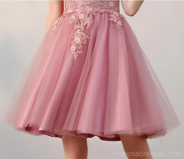 Off Shoulder Dusty Pink Cheap Homecoming Dresses Online, Cheap Short Prom Dresses, CM742