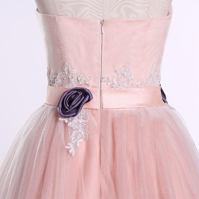 Strapless Sweetheart Blush Pink A line Long Evening Prom Dresses, Popular Cheap Long 2018 Party Prom Dresses, 17240