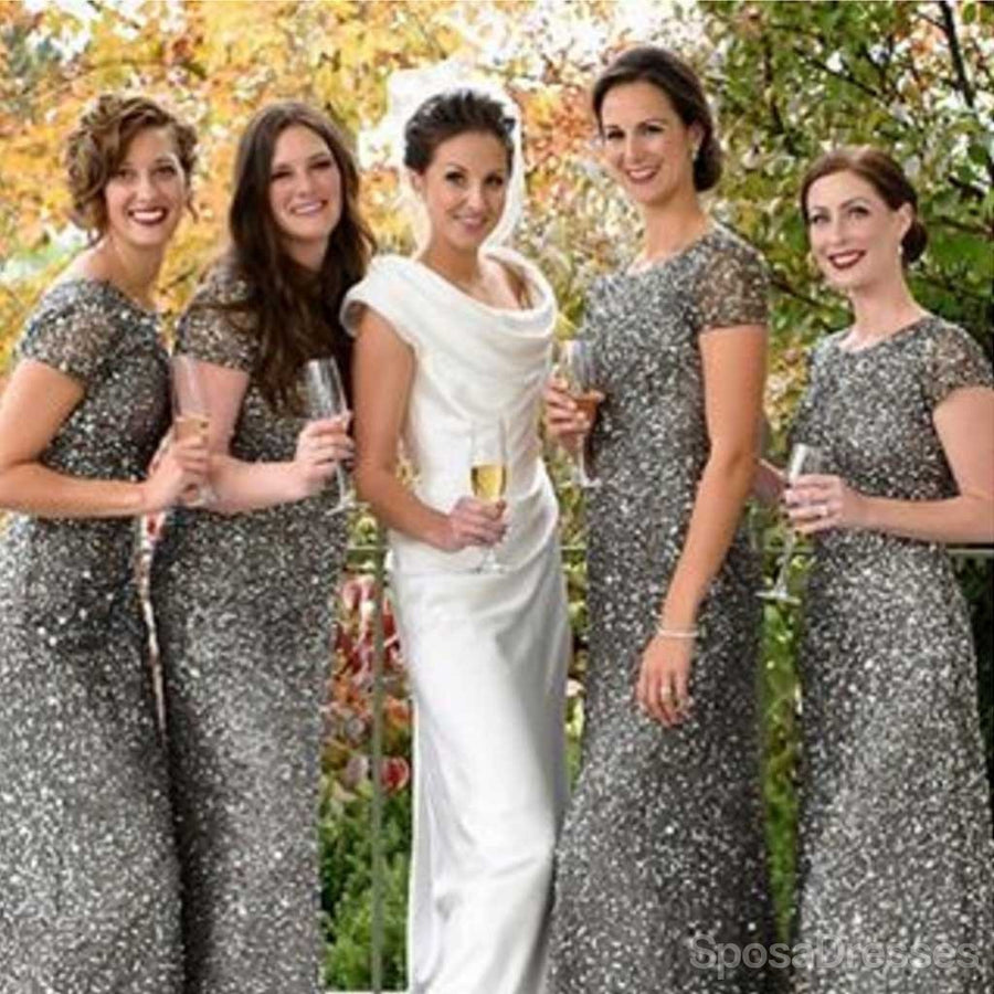Long bridesmaid dresses long dress for bridesmaids popular cheap cap sleeve silver sequin sexy mermaid small round neck long bridesmaid dresses wg90 ombrellifo Image collections