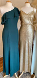 Mismatched Floor Length Sequin Cheap Bridesmaid Dresses Online, WG685
