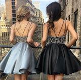 Spahgetti Straps Heavily Beaded Rhinestone Short Homecoming Dresses Online, CM607