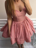 Sweetheart Pink Simple Cheap Short Homecoming Dresses Online, CM628