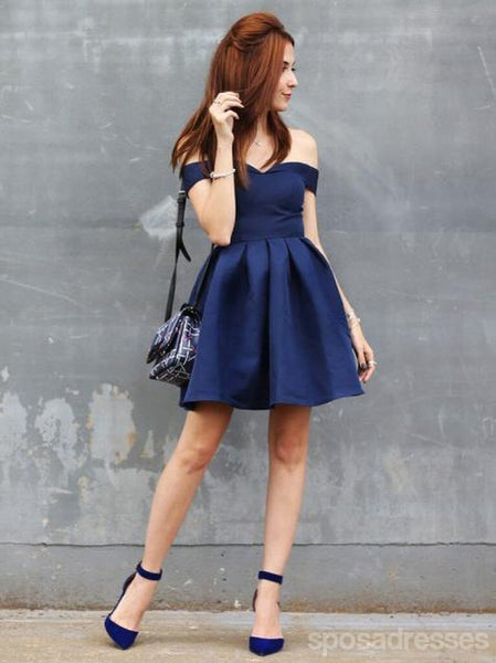 Off Shoulder Simple Cheap Short Homecoming Dresses Online, CM629