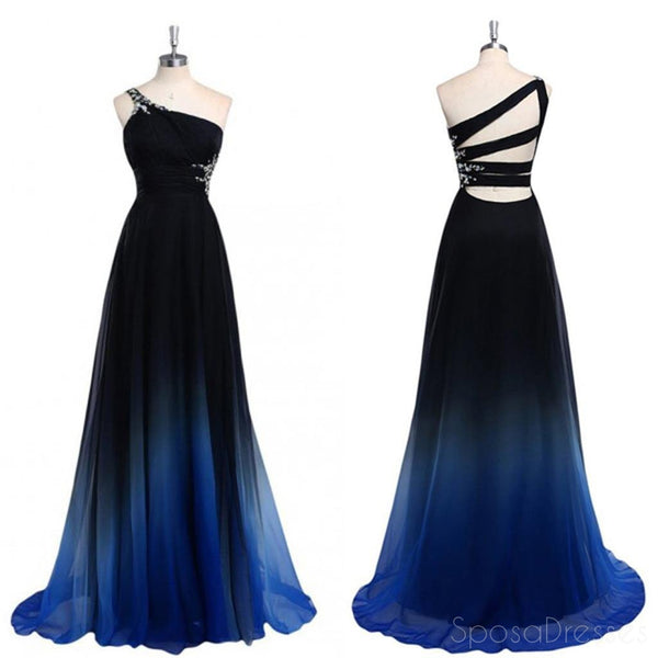 Chiffon Prom Dresses, Cheap Prom Dresses,One Off shoulder Prom Dresses, Gradient Prom Dresses,Popular Prom Dresses, Custom Prom Dresses,Unique Pretty Prom Dresses,Prom Dresses Online,PD0122