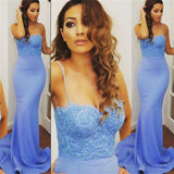 Spaghetti Straps Prom Dresses,Mermaid Prom Dresses,Blue Prom Dresses , Sexy Prom Dresses,Cocktail Prom Dresses ,Evening Dresses,Long Prom Dress,Prom Dresses Online,PD0151