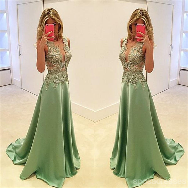 Green See Through Prom Dresses,Stunning Prom Dresses,A-line Prom Dresses,Sexy Prom Dresses, Fashion Prom Dresses,Cocktail Prom Dresses ,Evening Dresses,Long Prom Dress,PD0160