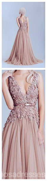 Dusty Pink Lace Prom Dress, Tulle Prom Dress, Off Shoulder Lace Prom Dress, Long Prom Dress, Best Sale Prom Dress, Elegant Prom Dress,Party Prom Dress,PD0066