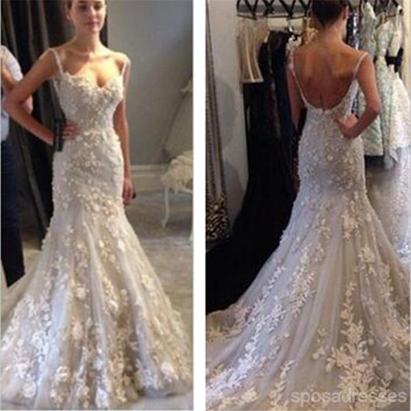 986707cb0af White lace Mermaid Wedding Dresses