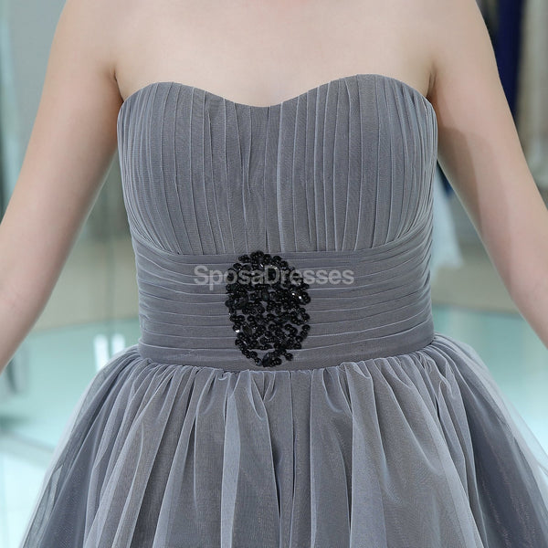 Sweetheart Grey High Low Cheap Homecoming Dresses Online, Cheap Short Prom Dresses, CM810