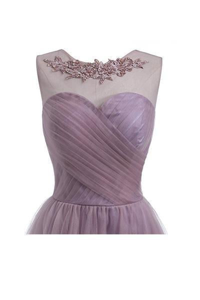 2018 Dusty Purple Cheap Short Homecoming Dresses Online, CM634