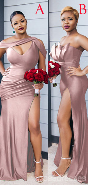 Mismatched Mauve Mermaid Cheap Bridesmaid Dresses Online, WG931
