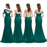 Mismatched African Mermaid Cheap Long Gold Bridesmaid Dresses Online, WG823