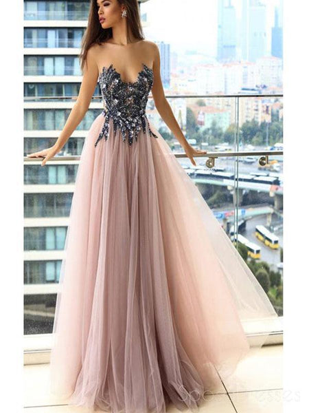 a3ae792863c4 Cap Sleeves Blue Lace Ball Gown Long Evening Prom Dresses, Cheap Sweet –  SposaDresses