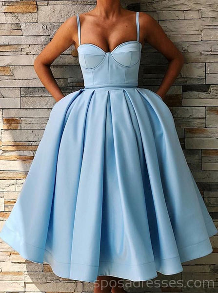 Straps Simple Blue Unique Cheap Homecoming Dresses Online, Cheap Short Prom Dresses, CM770