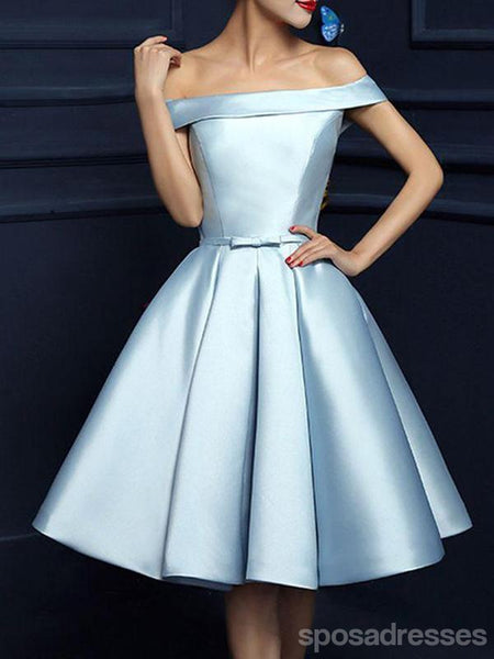 Off Shoulder Elegant Simple Cheap Short Homecoming Dresses Under 100, CM601