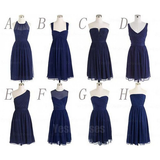 Navy bridesmaid dresses, cheap bridesmaid dresses, bridesmaid dresses,16327