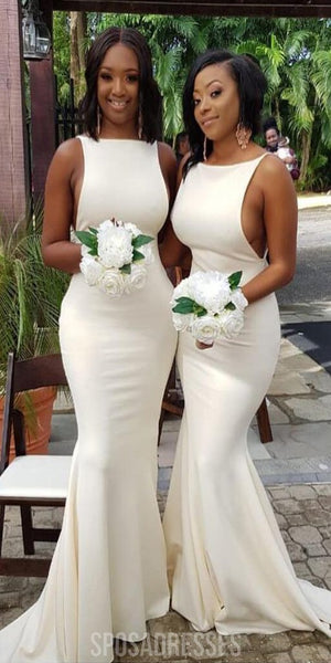 Simple Sabrina Mermaid Cheap Long Bridesmaid Dresses Online, WG555