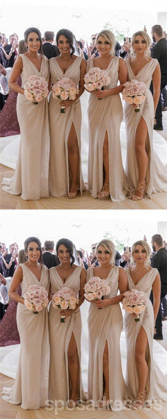 Mismatched Chiffon Cheap Long Cheap Bridesmaid Dresses Online, WG635