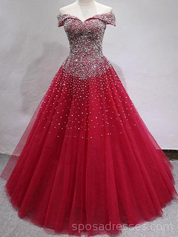 153ab2032e Off Shoulder Dark Red Cheap Long Evening Prom Dresses, Evening Party Prom  Dresses, 18631