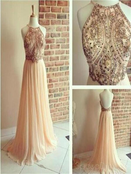 Backless Prom Dresses,A-line Prom Dresses,Chiffon Prom Dresses,  Popular Prom Dresses, PD0159