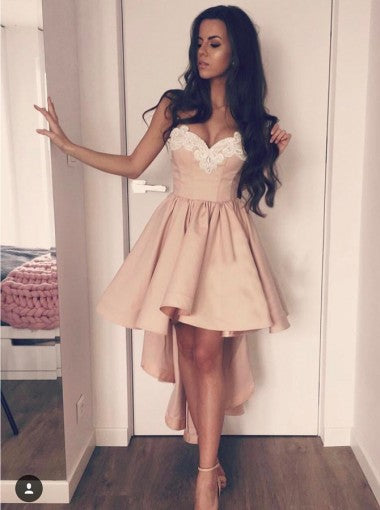 Sweetheart High Low Short Cheap Homecoming Dresses Online, CM612