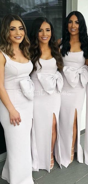 Scoop Side Slit Mermaid Cheap Long Simple Bridesmaid Dresses Online, Cheap Bridesmaids Dresses, WG723