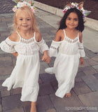 Lovely Short Sleeves Pretty Cheap Long Flower Girl Dresses, FD001