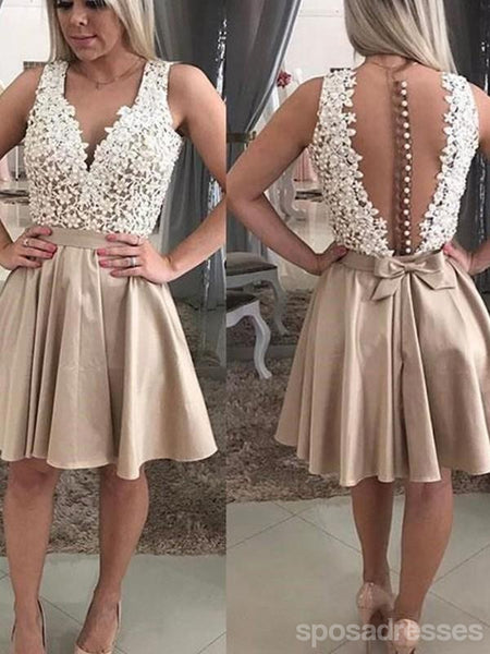 See Through Lace Beaded Short Cheap Homecoming Dresses Online, CM734