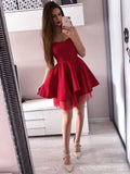 Simple Red Sweetheart Short Cheap Homecoming Dresses Online, CM728