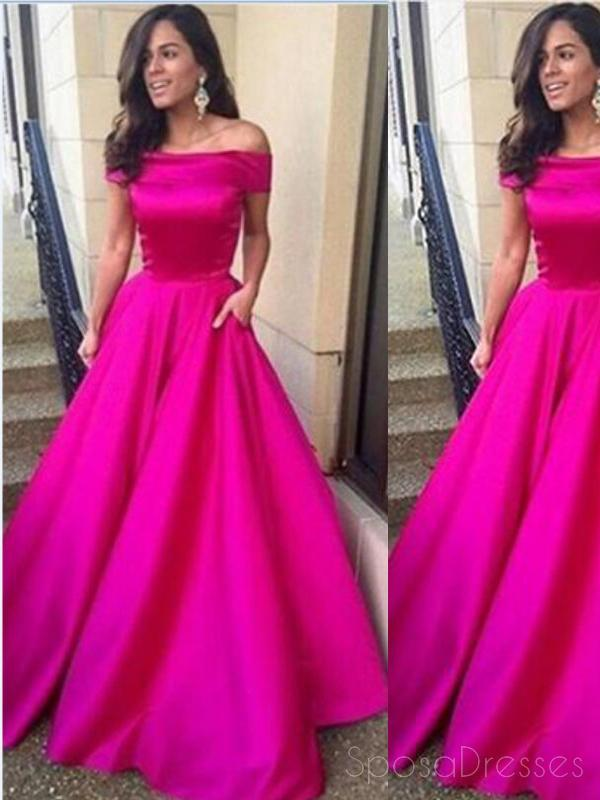 Sexy Side Slit Halter Pink Chiffon Cheap Prom Dresses Online,PD0175