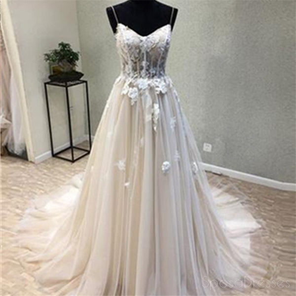 Sexy See Through A Line Lace Evening Prom Dresses, Popular Cheap Party Prom Dress, Custom Long Prom Dresses, Cheap Formal Prom Dresses, 17151